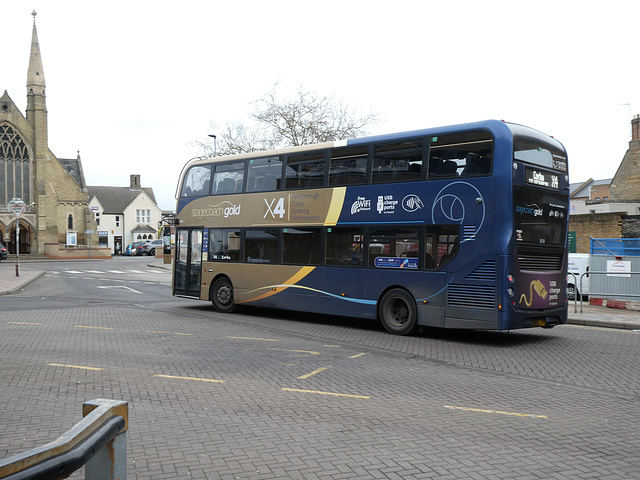 Stagecoach Midlands 11134 (SK68 LVF) in Peterborough - 18 Feb 2019 (P1000288)
