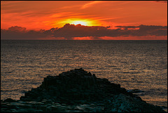 Burning Sky at Giant's Causeway