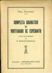 Fruictier, Grenkamp - Esperanto-Gramatiko 1930