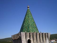 Pinnacle of tower.