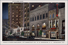 Mayflower Hotel/Harvey's Restaurant Postcard, 1945