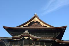 Japan, The Top Floor of the Main Building of Zenko-ji Temple