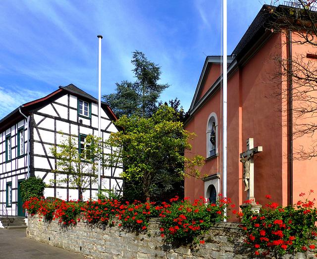 DE - Wachtberg - Vicarage and Church at Oberbachem