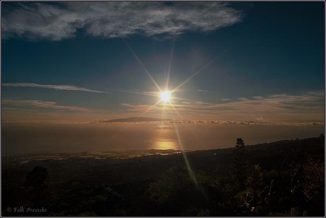 Abendsonne über Gomera