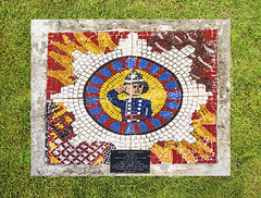 Cheapside Street Fire Commemorative Mosaic, Broomielaw, Glasgow