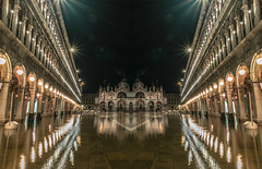 Venice as an 'acqua alta' swamps St Mark's Square