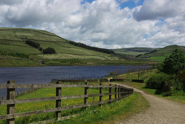 Woodhead Reservoir - start/end of the walk of a memorable walk in 2013
