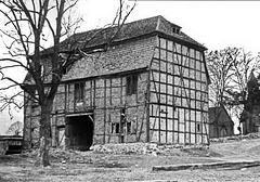 Zaschendorf,  Torhaus (Hofseite) im Jahre 1956