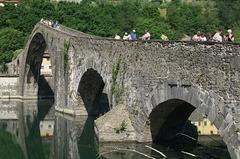Ponte della Maddalena on the Serchio River