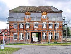 Zaschendorf, Torhaus (Straßenseite) im Jahre  2009