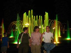 Evening community fountain I