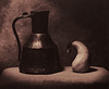 Copper Jug and Pear