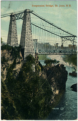 7853. Suspension Bridge, St. John, N.B.