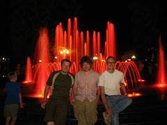 Evening community fountain II