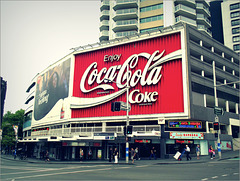 The famous Coca Cola sign