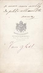 Céline Anna van Ghell; dedication and signed Anna