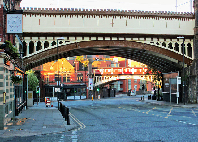 The end of Deansgate...