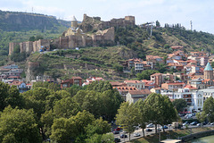 View of the castle from tiny church