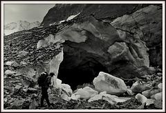 Langue finale du glacier d'Otemma (Valais CH)
