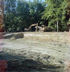 Construction At Burrell's Woods