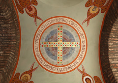 Cross, surrounded by symbols of the four Evangelists