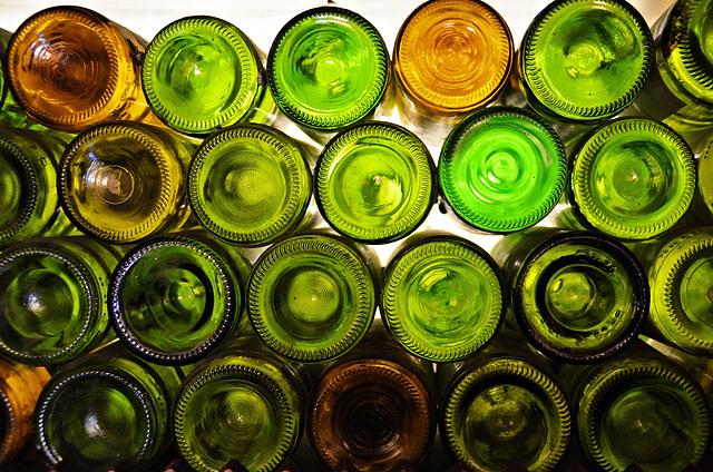Glasflaschenfenster