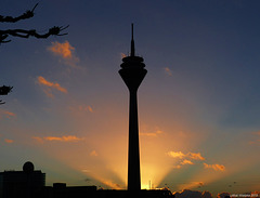 Düsseldorf - Rheinturm-Sunset