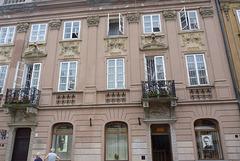 En esta casa en Varsovia nació Maria Sklodowska-Curie, el 07 de noviembre de 1867