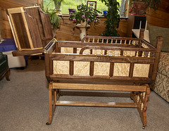 Baby Cradle handcrafted  by John Maize -V