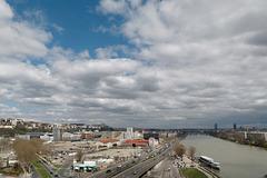 Lyon et le Rhône vus du musée des Confluences