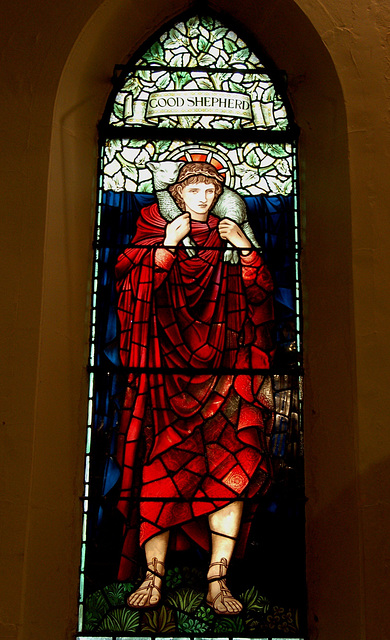 Goood Shepherd Window, Saint Margaret's Church, Ward End, Birmingham