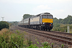 WCRC 57601 WINDSOR CASTLE at Pasture Lane foot crossing with 1Z32 16.45 Scarborough - Llandudno Jct Northern Belle 10th September 2021.