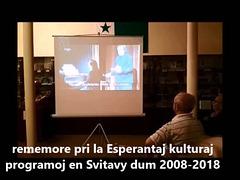 10jariĝo de la Esperanto-Muzeo en Svitavy - specimenoj el la 2-a parto de la sabata solena programo (15.9.2018)