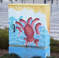 Electricity box.