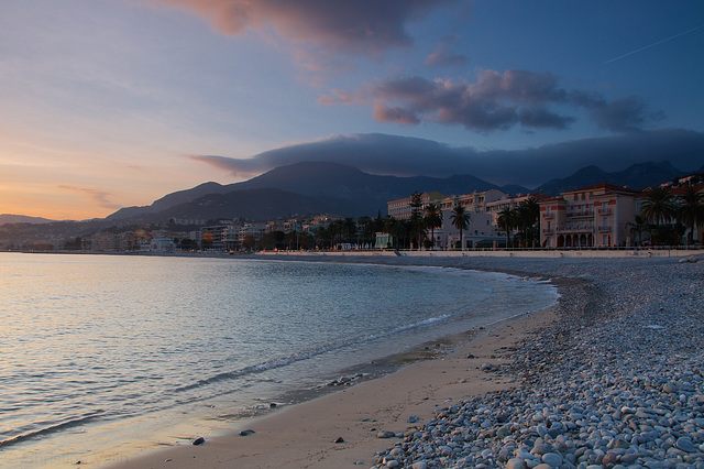 Menton evening light