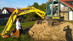 High, with a little help from my friends (and my excavator)