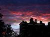 Boston's eveningsky in fire