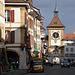 Murten in der Altstadt, Blick zum Berntor