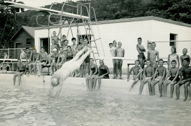Ernest Illingworth at Springfield Town Pool