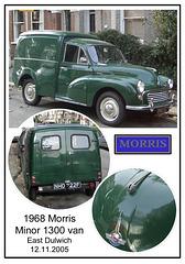 1968 Morris Minor 1300 van East Dulwich 12 11 2005
