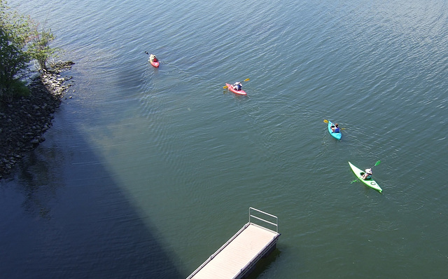Kayaks in Lake Champlain