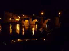 Le Pont Vieux a Limoux ,un soir