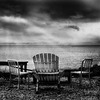 three chairs and the sea