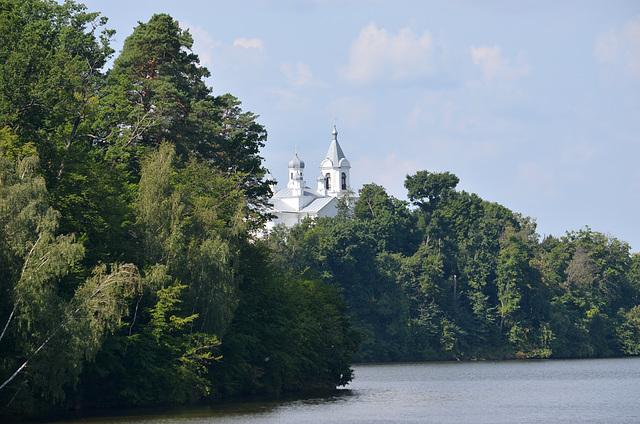 Житомирская обл., Тригорский Монастырь с дамбы на реке Тетерев