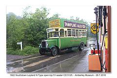 1922 Leyland N type - Amberley - 28.7.2016