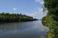 Житомирская обл., Река Тетерев выше Тригорской дамбы