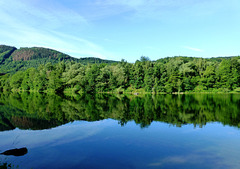 DE - Heimbach - Reflections on the dammed lake