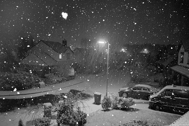 A little snow.