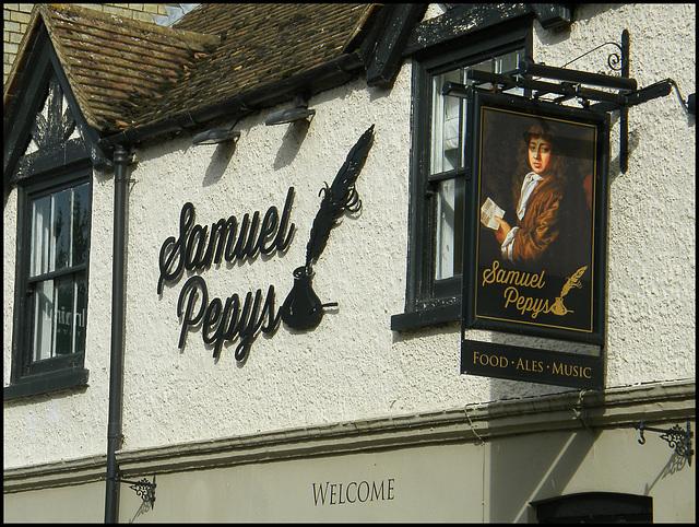 Samuel Pepys pub sign