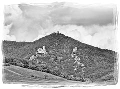 Hunawihr (68) 7 septembre 2014. Forts dominant la plaine du Rhin.